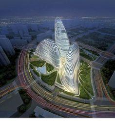 Futuristic Zaha Hadid Arcitecture