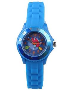 SKLIT Mode Damenuhr cartoon blauen Silikonband - http://uhr.haus/sklit-watches/sklit-mode-damenuhr-cartoon-blauen-silikonband