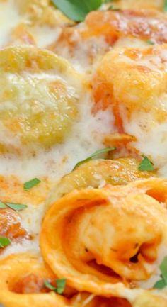 Italian Sausage & Tortellini Skillet