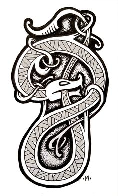 Going over old artwork with ink as I try and teach myself some new skills. Going over old artwork with ink as I try and teach myself some new skills. Viking Dragon, Viking Art, Viking Runes, Norse Tattoo, Celtic Tattoos, Viking Designs, Celtic Designs, Viking Ornament, Nordic Symbols