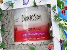 Zebra Testuje: BingoSpa - Maska do włosów z glinką Ghassoul Damaged Hair, Shampoo, Clay, Bottle, Clays, Flask, Jars, Modeling Dough