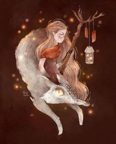 Elven witch and her spirit animal | WEBSTA - Instagram Analytics