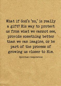 God's protection, provisions, redirections