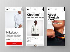 Nike Website Mobile by Alexandr Kotelevets on Dribbble Website Design Inspiration, Design Blog, Ui Ux Design, Logo Design, Nike Design, Design Layouts, Design Trends, Mobile Ui Design, Mobiles Webdesign