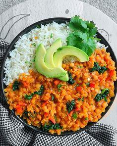 Comforting Vegan Lentil Curry -