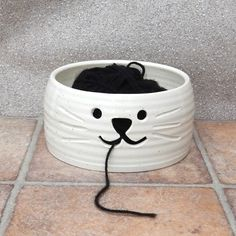 Yarn bowl ....knitting or crochet ....hand thrown ceramic pottery