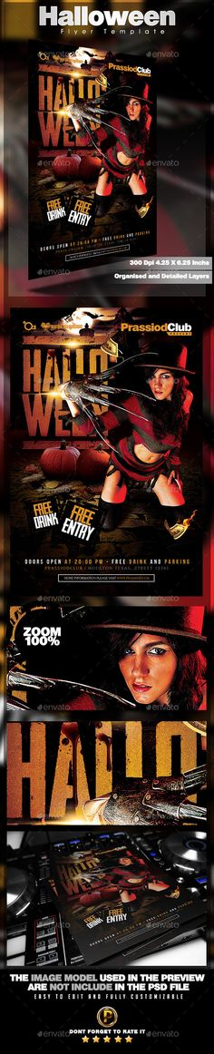 Halloween Flyer Template #design Download: http://graphicriver.net/item/halloween-flyer-template/12696396?ref=ksioks