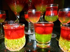 Sour Apple Jello Shots