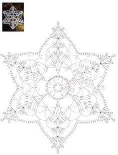 How To Knit: Crochet snowflakes, free crochet pattern Mandala Au Crochet, Crochet Snowflake Pattern, Crochet Motifs, Christmas Crochet Patterns, Holiday Crochet, Crochet Snowflakes, Crochet Diagram, Doily Patterns, Thread Crochet