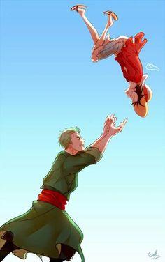 Catch me, Zoro!! Lol xD