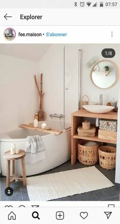 [I love this interior design! It's a great idea for home decor. Home design. – Lena Albrecht I love this interior design! It's a great idea for home decor. Home design. I love this interior design! It's a great idea for home decor. Home design. Bathroom Bath, Small Bathroom, Bathroom Ideas, Modern Bathroom, Neutral Bathroom, Bathroom Laundry, Master Bathroom, Bathroom Colors, Shower Ideas
