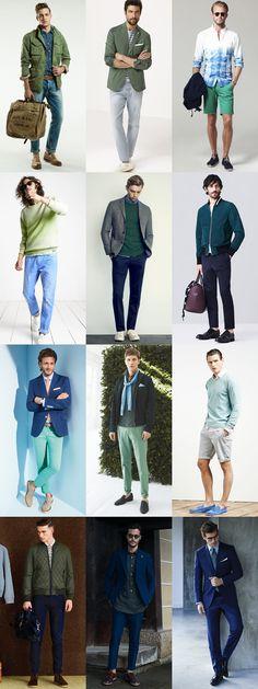 Spring green blue looks