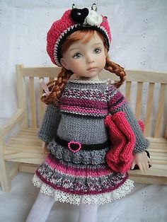 Handknitted Outfit for Little Darling Doll 13 inches Dianna Effner New | eBay. Ends 1/6/13
