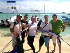 Bonjour... great fun spearfishing and talking French