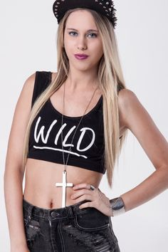 WILD Bra Crop Top  www.biancakimclothing.co.za