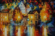 Romantic Amsterdam - By Leonid Afremov