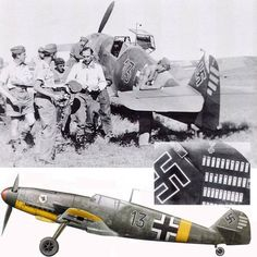 "Kurt UBBEN is congratulated on 5 September 1941 for his appointment to the post of Kommandeur of III./JG 77 (previously he was Staffelkapitän of 8./JG 77). Next to him, his personnal aircraft, a Messerschmitt Bf 109 F-4 coded ""Black 13"". His scored consisted of 90 confirmed victories and two unconfirmed. He was KIA on 27 April 1944 in Reichsverteidigung duties"