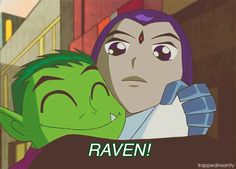 Beast Boy trying to get Raven to join the others. Description from tumblr.com. I searched for this on bing.com/images