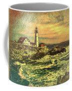Portland Head Light - Digital Abstract Painting Coffee Mug by Bill And Deb Hayes