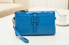 Blue Simple Quilted Leather Shoulder Bags Messenger Bag Leather Shoulder Bag, Shoulder Bags, Quilted Leather, Messenger Bags, Simple, Blue, Shoulder Bag