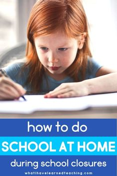 Providing school at home when school is canceled - wisdom from a homeschool parent and classroom teacher Teaching Second Grade, First Grade Teachers, Third Grade, Fourth Grade, Teaching Tips, Learning Resources, Teacher Resources, Upper Elementary Resources, School Closures