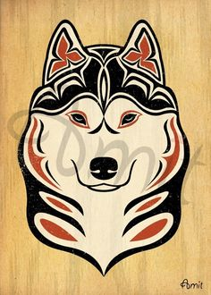 NW siberian husky  head by SiberianArt on Etsy, $35.00