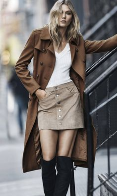Karlie Kloss Embraces the 70s Trend for Express 'Wear to Work' Lookbook