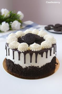 Chocolate and hazelnut cake - HQ Recipes Chocolate Oreo Cake, Chocolate Recipes, Oreo Biscuits, Bolo Cake, Hazelnut Cake, Yogurt Cake, Number Cakes, Oreo Dessert, Oreo Cheesecake
