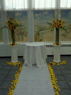 Looking Back at Nicole's Sunflower Wedding at The Flander's Hotel in Ocean City! One Year Later!