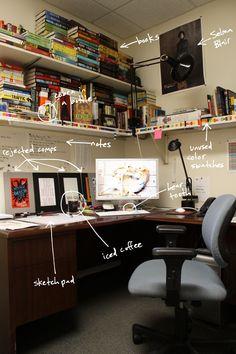 Home Office Layouts, Home Office Setup, Home Office Space, Home Office Design, Computer Desk Setup, Gaming Room Setup, Artist Workspace, Bedroom Setup, Gamer Room