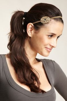 Skinny by Jessica Elliot  18K Gold Plated Headband Necklace
