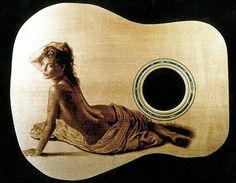 Dino Muradian Pyrography > musical instruments > guitars