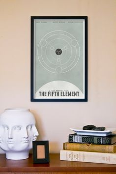 The Fifth Element Retro Movie Poster Print