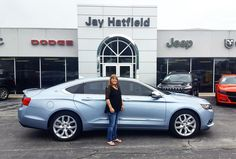 HELEN AND MIKE's new 2014 Chevrolet Impala! Congratulations and best wishes from Jay Hatfield CDJR and MATTHEW BUTLER.