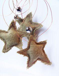 Detallitos para el árbol de Navidad  Conseguí tela arpillera en www.telavendo.com.ar