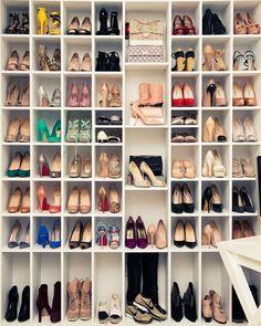 louise nichol editor of bazaar dubai closet love the shoebag display cubbies