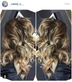 Brown and blonde ombré Instagram @_cassy_c__