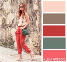 Color-Block Fashion by Alena Gordon red más beige Colour Combinations Fashion, Colour Blocking Fashion, Color Combinations For Clothes, Fashion Colours, Colorful Fashion, Red Fashion, Color Blocking, Colour Pallette, Colour Schemes