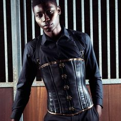 Mens Steampunk leather corset by CurveCoutureCorsetry on Etsy, £400.00