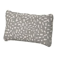 IKEA - VALLENTUNA, Back cushion, Funnarp black/beige, , The cover is easy to keep clean as it is removable and can be machine washed.