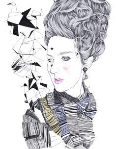 Big hair by Sarah Egbert Eiersholt, via Behance