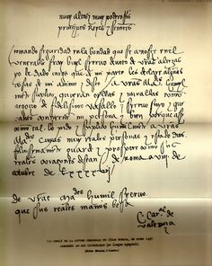 Letter (in Spanish) from Cesare to the catholic king
