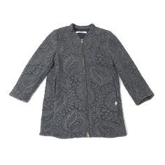 Lù:Lù udsalg børnetøj Grå jacquard fleece frakke tilbud børnetøj