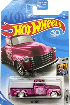 "is part of the 2018 Super Treasure Hunt set and in the HW Metro series. It is Spectraflame pink with white graphics. Hot Wheels Stripes – Letters"" decorates the d… Hot Wheels Treasure Hunt, Super Treasure Hunt, Custom Hot Wheels, Hot Wheels Cars, Cute Cars, Funny Cars, Carros Hot Wheels, Wheels Of Fire, Jaguar Xk8"
