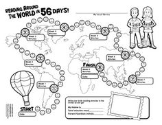 8 Week Reading Chart for Reading Around the World.  Includes printable paper dolls and cultural folk costumes to dress them in as well as bookmarks and a book report form to write about some of the places they read about.