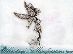 TinkerBell Fairy Pensant w/ Rhinestones by MindzManifestations, $3.00