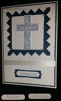 BaRb'n'ShEll Creations - Stampin Up' Crosses of Hope and All God's Grace - card made by Shell