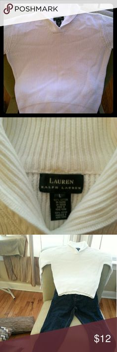 Ralph Lauren Cable knit sweater RL white sweater Ralph Lauren Shirts & Tops Sweaters