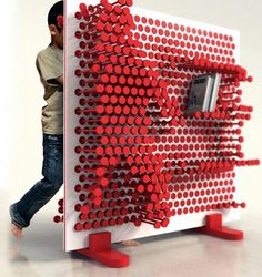 Awesome storage unit - you can push it out to make shelves or just stick something in there- fits perfectly for almost anything - genius!