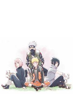 Naruto, Sakura, Sasuke, Kakashi #naruto